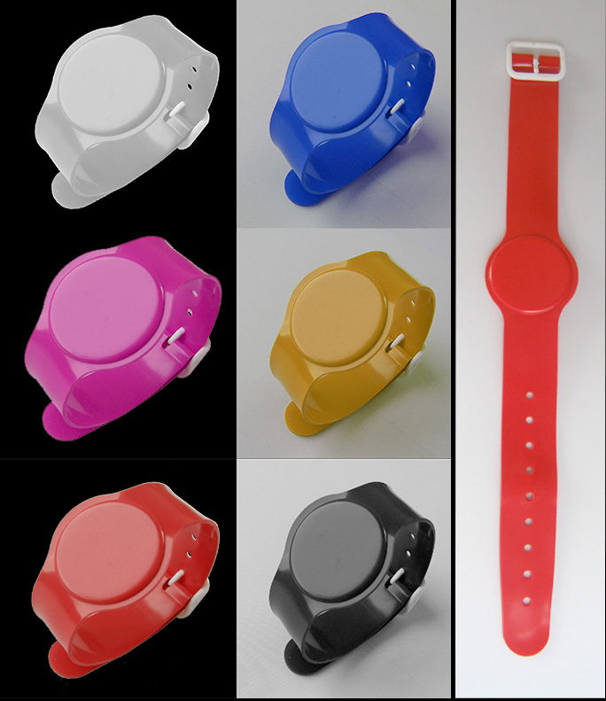 RFID Soft PVC Wristband High Frequency