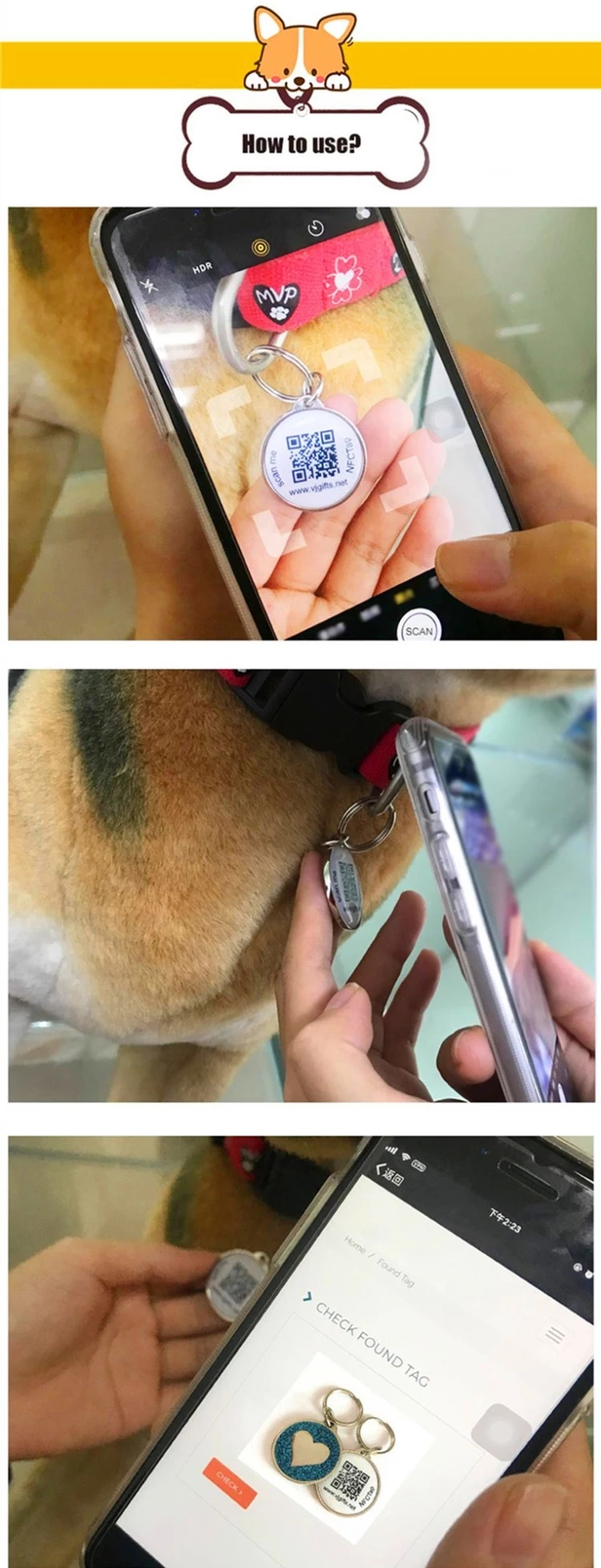 Rfid Reusable Pet Tag