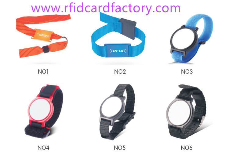 Disposable Nylon Fabric RFID Wristbands