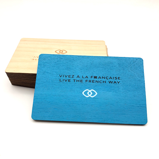 Wooden hotel key Card