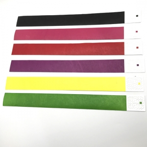 Colorful Advertising Tyvek RFID Wristband