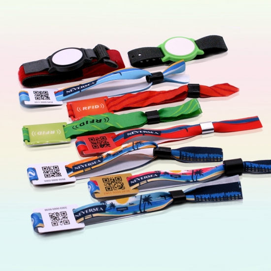 RFID Fabric Wristbands For Event Concert