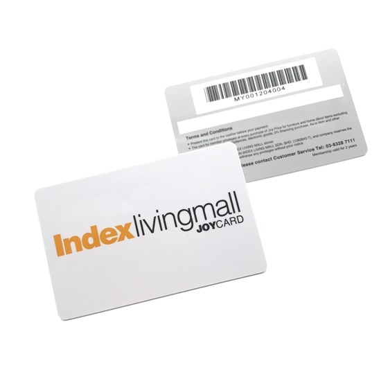 Membership Plastic Card With Magnetic Barcode