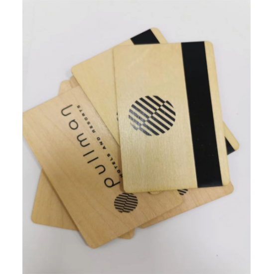 contactless wooden hotel key card