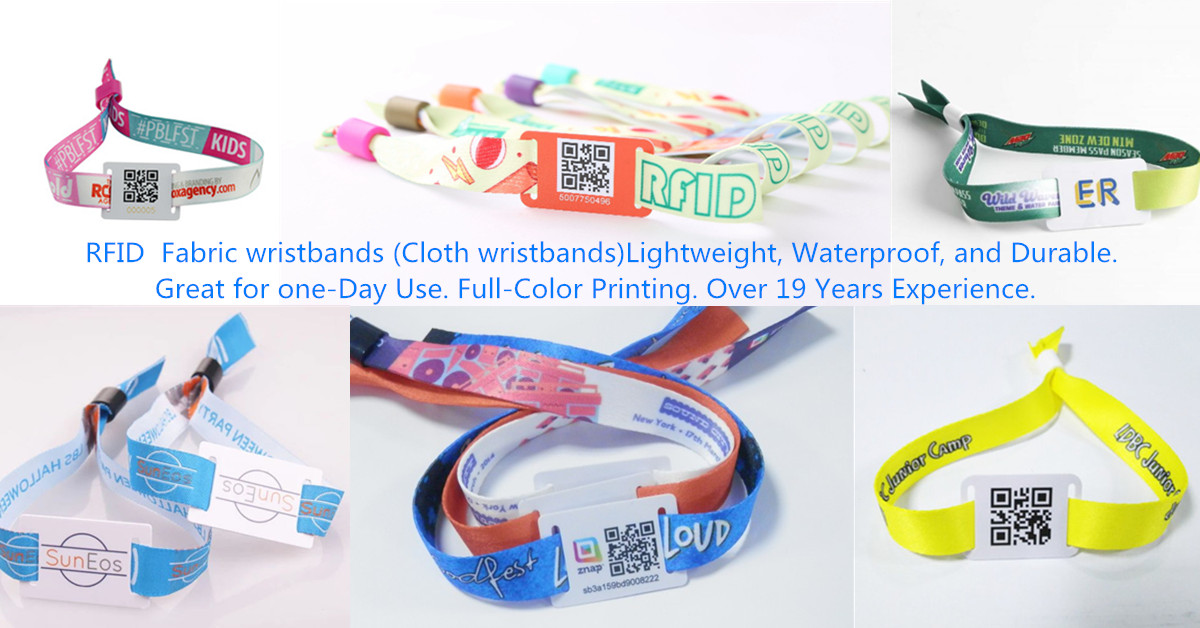 RFID polyester wristband for event ticket management