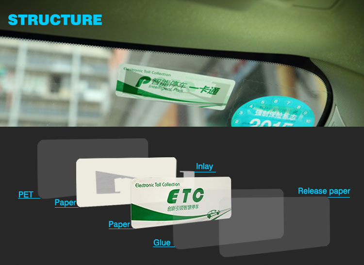 ETC and RFID technology ETC Windshield Tag